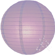 Lavender even ribbed Chinese paper lantern