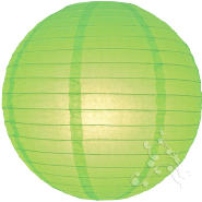 Lime hanging paper chinese lanterns