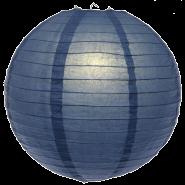 Small navy blue paper hanging lantern