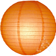 Large Traditional Orange Chinese Lanterns