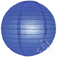 Medium size round Royal Blue paper lanterns