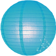 Turquoise chinese paper lanterns