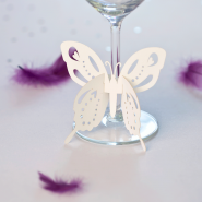Butterfly wine glass wedding decoration