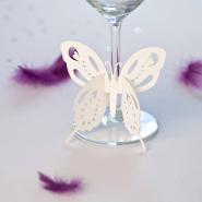 Butterfly wine glass wedding decoration