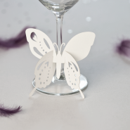 Flutterby Wedding name cards butterfly