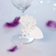 Flower wedding name card decoration