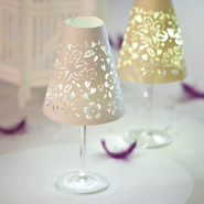 White floral Glass Shade