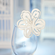 Flower wedding glass decoration